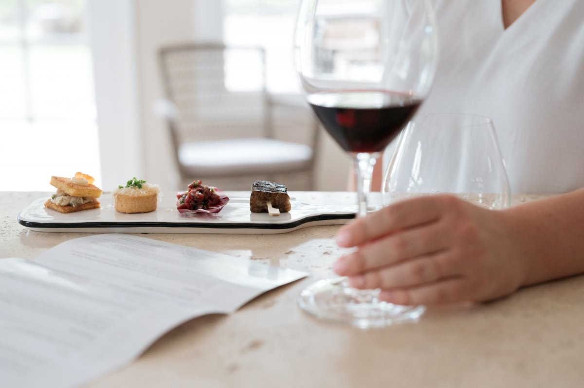 Estate grown 1813 Wine Tasting and Boyd & Co Food Pairing